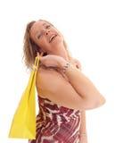 Femme blonde dans la robe d'été image libre de droits