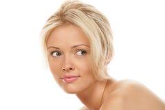 Femme blonde de beauté image stock
