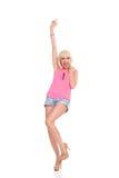 Femme blonde de cri Images stock