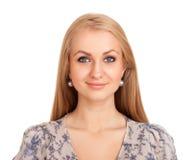 Femme blonde de sourire Image libre de droits