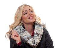 Femme blonde de sourire Photographie stock