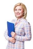 Femme blonde de sourire attirante Photographie stock