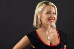 Femme blonde magnifique photo stock