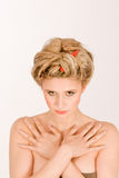Femme blonde pointue Photos stock
