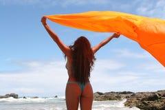 Femme célébrant la durée Image libre de droits