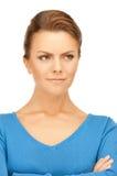 Femme calme et amicale Photo stock
