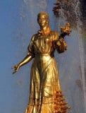 Femme Carélie et Finlande de symbolisation - une partie de la fontaine Fri Image libre de droits