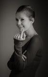 Femme caucasienne attirante dans ses 30 d'isolement sur a Photographie stock