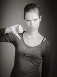 Femme caucasienne attirante dans ses 30 d'isolement sur a Image libre de droits