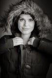 Femme caucasienne attirante dans ses 30 d'isolement sur a Images libres de droits