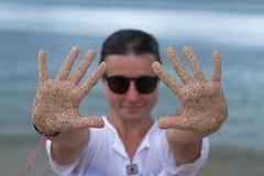 Femme caucasienne des vacances Photo libre de droits