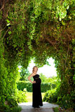 Femme caucasienne enceinte Photographie stock