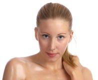 Femme caucasienne et belle avec la peau grande Photo libre de droits