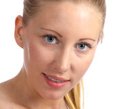 Femme caucasienne et belle avec la peau grande Photos libres de droits