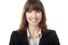 Femme chargé au bureau Image libre de droits
