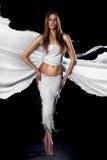 Femme chaude avec la jupe de lait photographie stock libre de droits