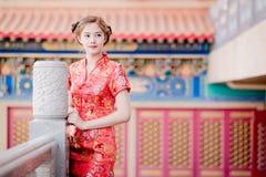 Femme chinoise asiatique dans le chinois traditionnel Photographie stock