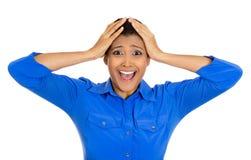 Femme choquée Photo stock