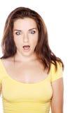 Femme choqué Photos stock