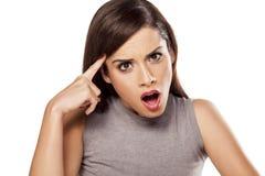 Femme choquée Image libre de droits