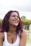 Femme colombienne heureuse Images libres de droits
