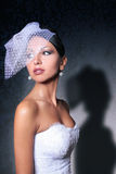 Femme comme jeune mariée images stock