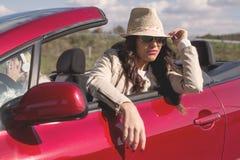 Femme conduisant la voiture Images libres de droits