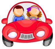 Femme conduisant un véhicule Photos stock