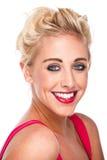Femme confiante attirante souriant avec de bonnes dents Image stock