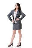 Femme confiante d'affaires Photographie stock libre de droits