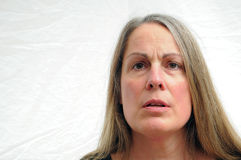 Femme confus Images libres de droits