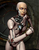 Femme courante de robots Image stock