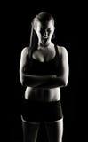 Femme criarde discrète de forme physique Image stock