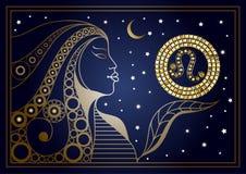 Femme décorative avec le signe du zodiaque 1 Images stock