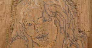 Femme découpée en bois Photo stock