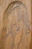 Femme découpée en bois Image libre de droits
