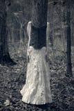 Femme déguisée comme arbre Photographie stock libre de droits