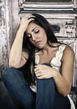 Femme déprimé images libres de droits