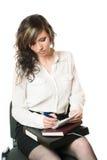 Femme d'écriture. Photos stock