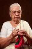 Femme d'aîné de l'Inde Photographie stock