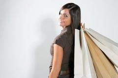 Femme d'achats Image libre de droits
