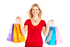 Femme d'achats Image stock