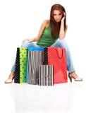 Femme d'achats. Image libre de droits