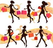 Femme d'achats Images libres de droits