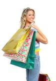 Femme d'achats photos stock