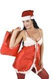 femme d'achats de Santa Photographie stock