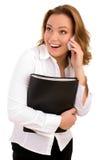 Femme d'affaires à l'appel téléphonique Photos libres de droits