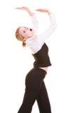 Femme d'affaires éloignant l'espace vide de copie Photo stock