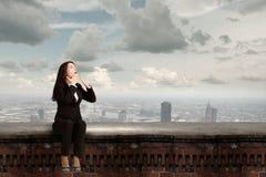Femme d'affaires étonnée Images libres de droits