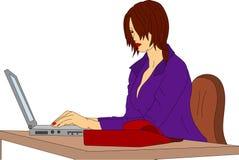 Femme d'affaires illustration de vecteur